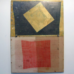 Alicia McCarthy, Untitled, 2013, liquid pencil, color pencil on found wood, 36 x 49 inches