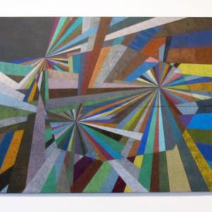 Alicia McCarthy, Untitled, 2013, liquid graphite on found wood, 35 x 48 inches