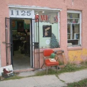 Bill Davenport, Bill's Junk: Junk store facade at 1125 E 11th St, 2009, mixed media, variable
