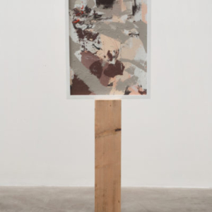 Brion Nuda Rosch, Self Portrait (Big Dick), 2013, acrylic, wood, 54 x 17 x 5 1/2 inches