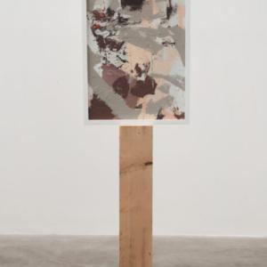 Brion Nuda Rosch, Self Portrait (Big Dick), 2013, acrylic, wood, 54 x 17 x 5 1/2 inches