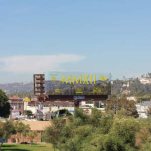 Cayetano Ferrer, End Credits on Hollywood, 2012, billboard on Hollywood Blvd