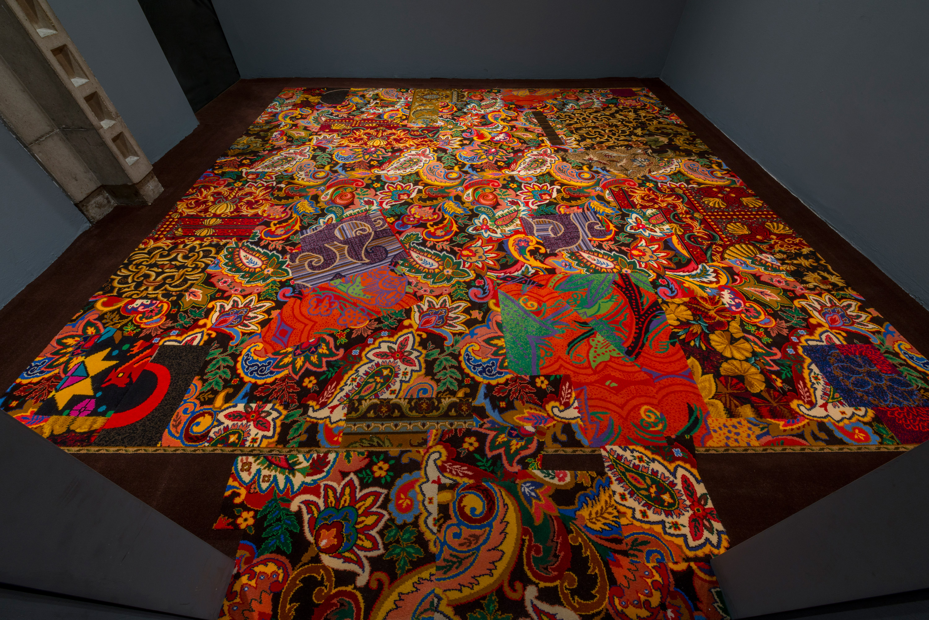 Cayetano Ferrer, Swatch for Remnant Recomposition, 2012, casino carpet, seam tape