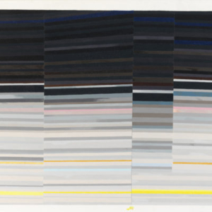 Carrie Gundersdorf, Four Section of Saturn's Rings, 2013, colored pencil and watercolor/paper, 46 x 60 inches