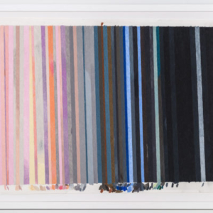 Carrie Gundersdorf, Enhanced Color Schematic of the Rings of Uranus, 2015, colored pencil on paper, 20 x 28 inches