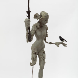 Deva Graft, This Isn't Video Games, 2017, bronze, leather boot, 48 x 20 x 18 inches