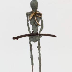 Deva Graf, No Art for the Gods, 2016, bronze, 34 x 16 x 7 inches