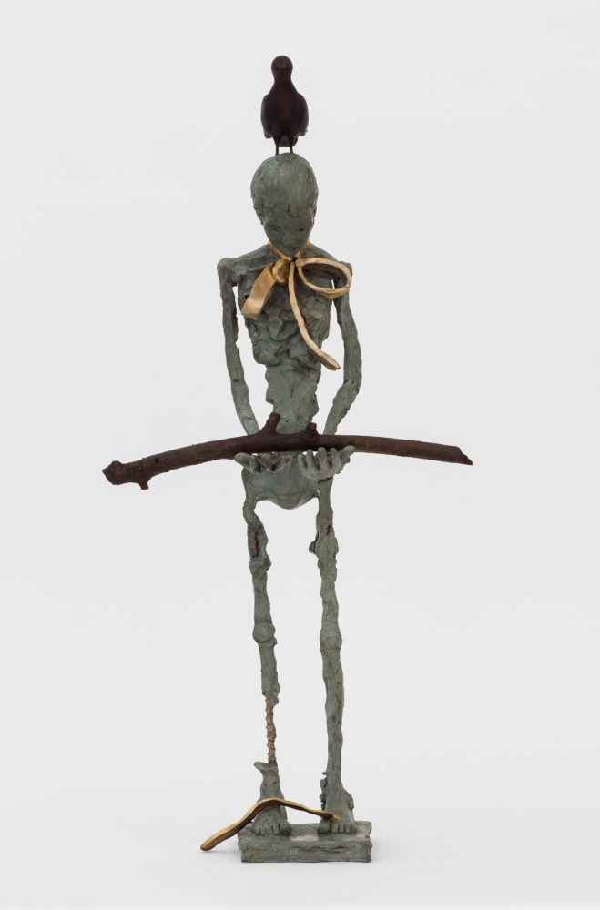 Deva Graf, No Art for the Gods, 2016, bronze, 34 x 16 x 7 inches