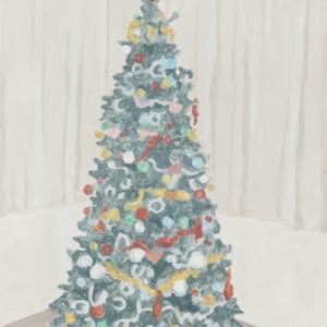 Francesca Fuchs, Xmas Tree 2, 2014, acrylic on canvas, 32 x 24 1/4 inches