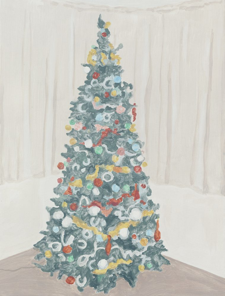 Francesca Fuchs, Xmas Tree 2, 2014, acrylic on canvas, 32 x 24 1/4 inches