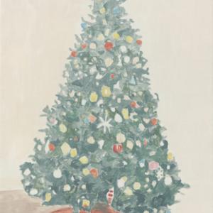 Francesca Fuchs, Xmas Tree 3, 2014, acrylic on canvas, 32 x 24 1/4 inches