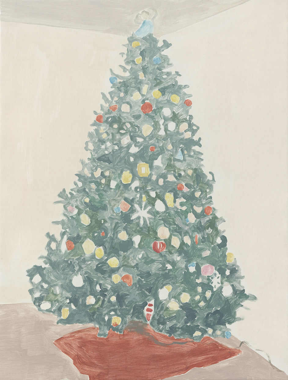 Francesca Fuchs, Xmas Tree 3, 2014, acrylic on canvas, 32 x 24 1/4 inches