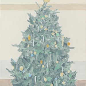 Francesca Fuchs, Xmas Tree 6, 2015, acrylic on canvas, 32 x 24 1/4 inches