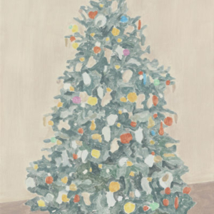 Francesca Fuchs, Xmas Tree 7, 2015, acrylic on canvas, 32 x 24 1/4 inches