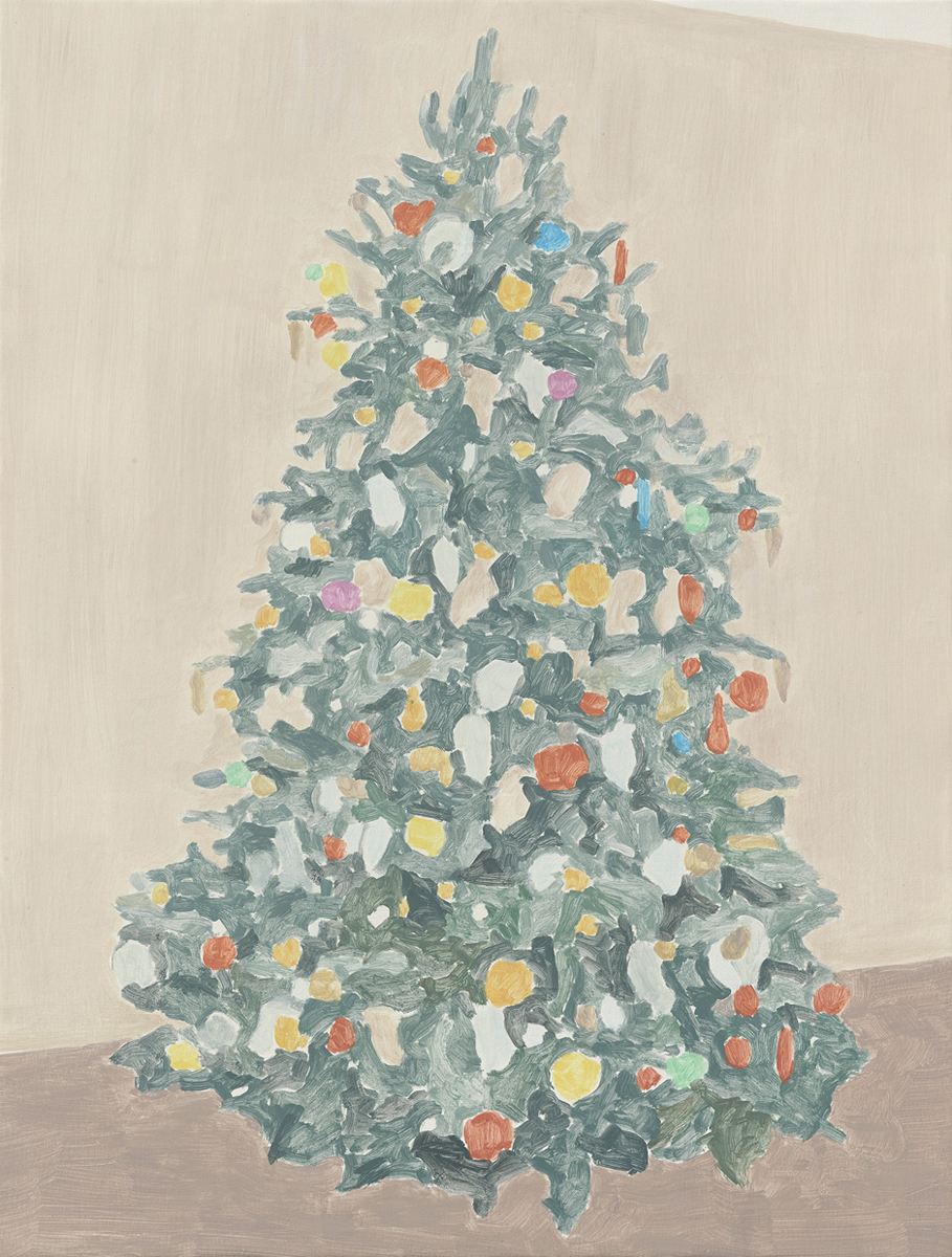 Francesca Fuchs, Xmas Tree 7, 2015, acrylic on canvas, 32 x 24 1/4 inches