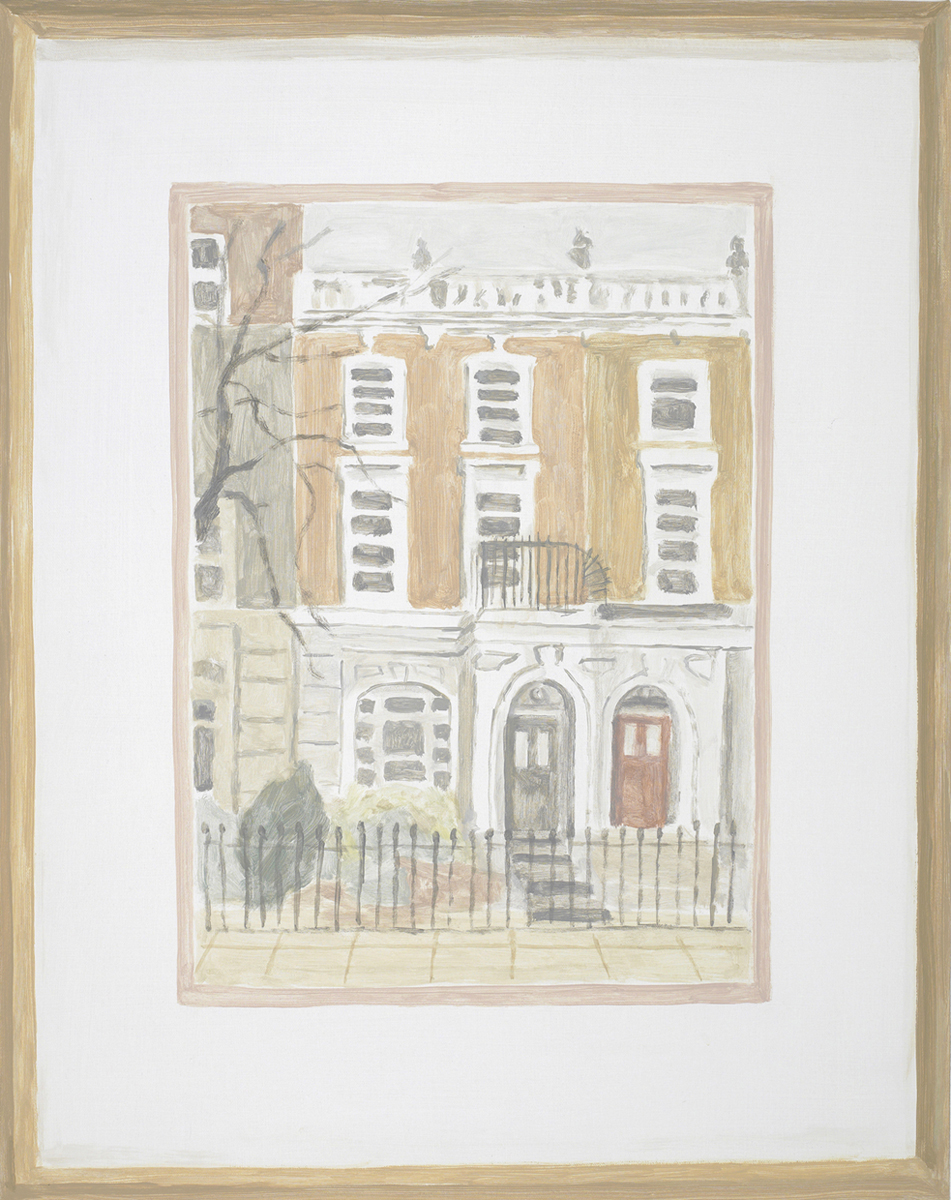 Francesca Fuchs, Framed Drawing: 10 Harley Gardens, 2013, acrylic on canvas, 24 x 19 inches