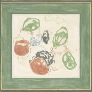 Francesca Fuchs, Framed Print: Kell (Green and Red), 2011, acrylic on canvas, 23 1/2 x 24 inches