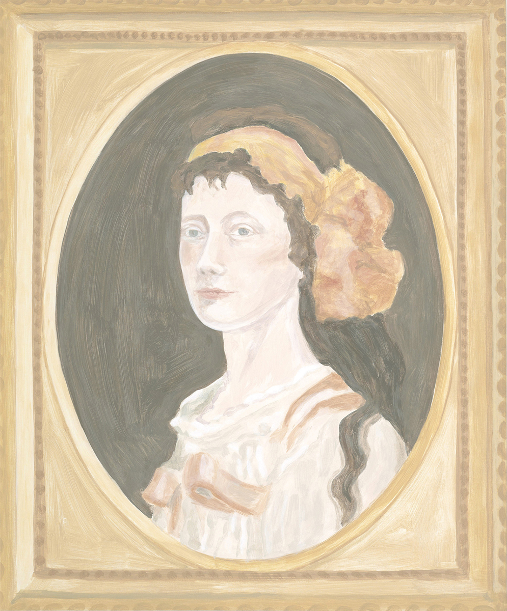 Francesca Fuchs, Framed Painting: 19th Century Portrait, 2011, acrylic on canvas, 29 x 24 inches