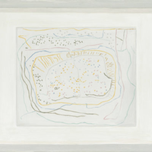 Francesca Fuchs, Framed Drawing: Dots & Lines, 2011, acrylic on canvas, 18 1/2 x 22 inches