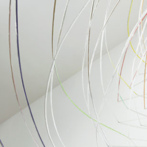 Gisela Insuaste, It's all about el arco iris (rainbow), you'll see (detail), 2011, wood, aluminum tape, acrylic paint, variable size