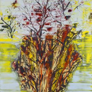 Gilad Efrat, Tamarisk Negev, 2014, oil on canvas, 73 × 63 × 2 inches