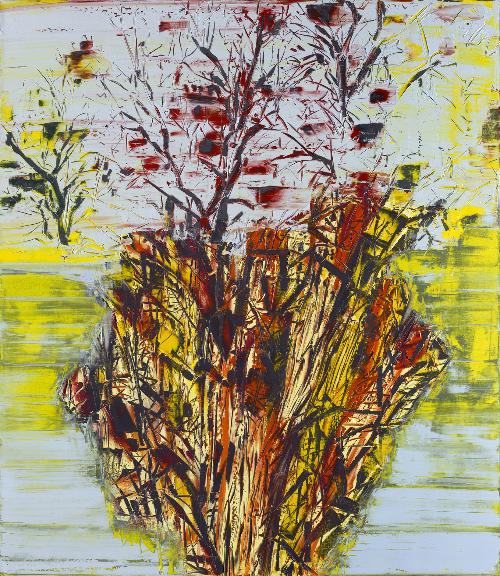 Gilad Efrat, Tamarisk Negev, 2014, oil on canvas, 73 × 63 × 2 inches