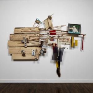 Juan Angel Chavez, Hard Bark, 2012, mixed media collage, 94 x 112 inches