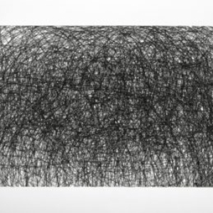 Howie Cherman, Prometheus, 2013, ink on paper, 30 x 16 9/10 inches