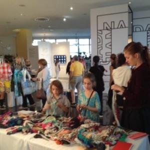 Ramekon O'Arwisters, Crochet Jam, NADA, Miami Beach, Florida 2014, Sponsored by Artadia