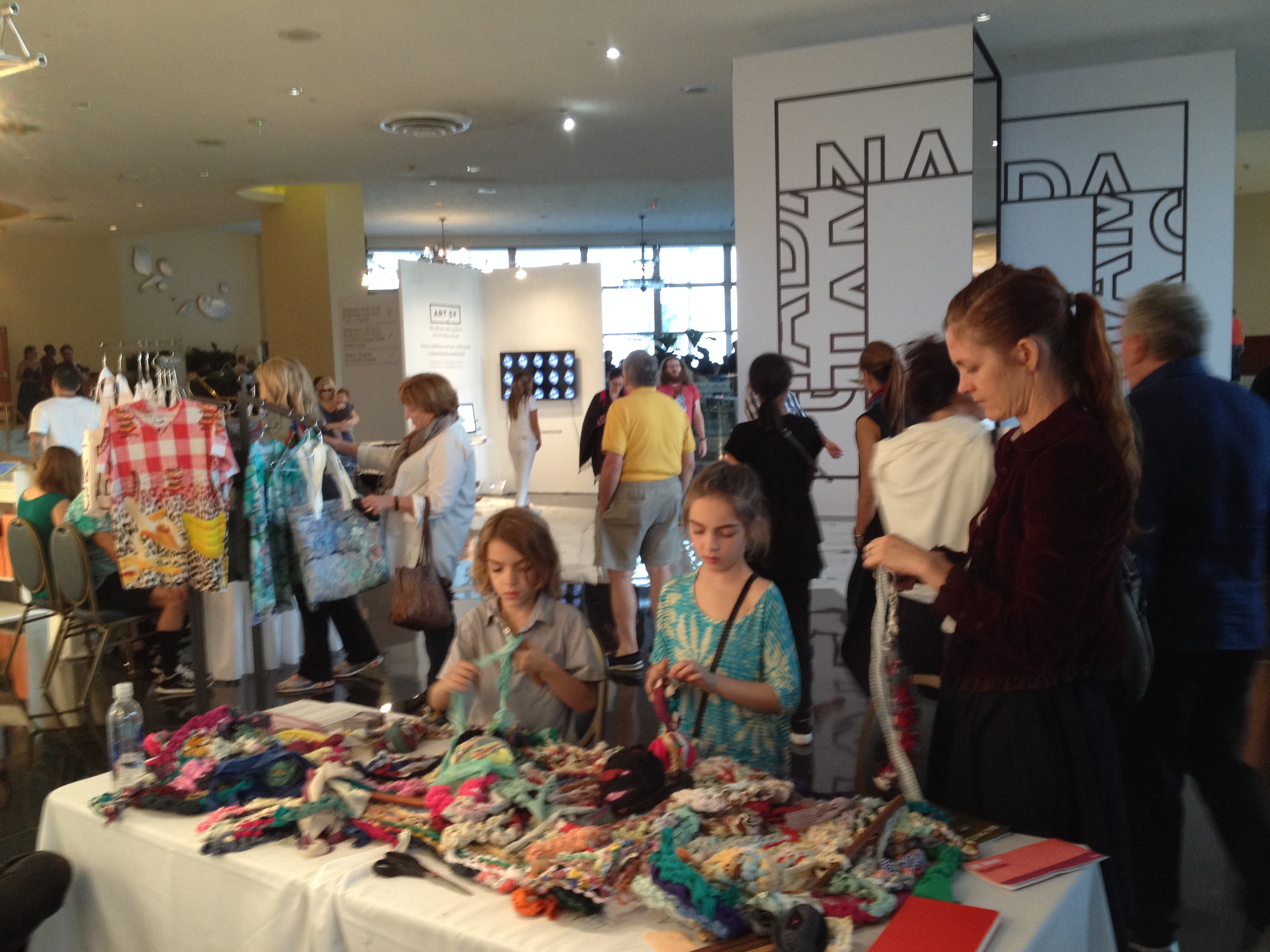 Ramekon O'Arwisters, Crochet Jam, NADA, Miami Beach, Florida 2014, Sponsored by Artadia