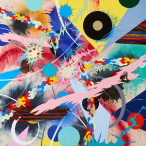Kara Maria, Innumeral Infinite Songs, 2016, acrylic on canvas, 60 x 60 inches