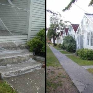 J Hill, Slip Covered Row House, 2007, vinyl, zippers, row house, 212 x 480 x 300 inches