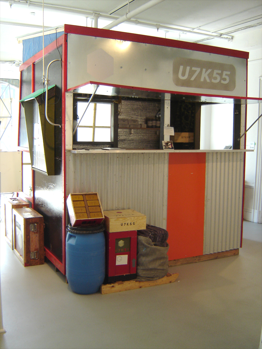 John Osorio-Buck, U7K55, 2008, sustainable kiosk system, variable size
