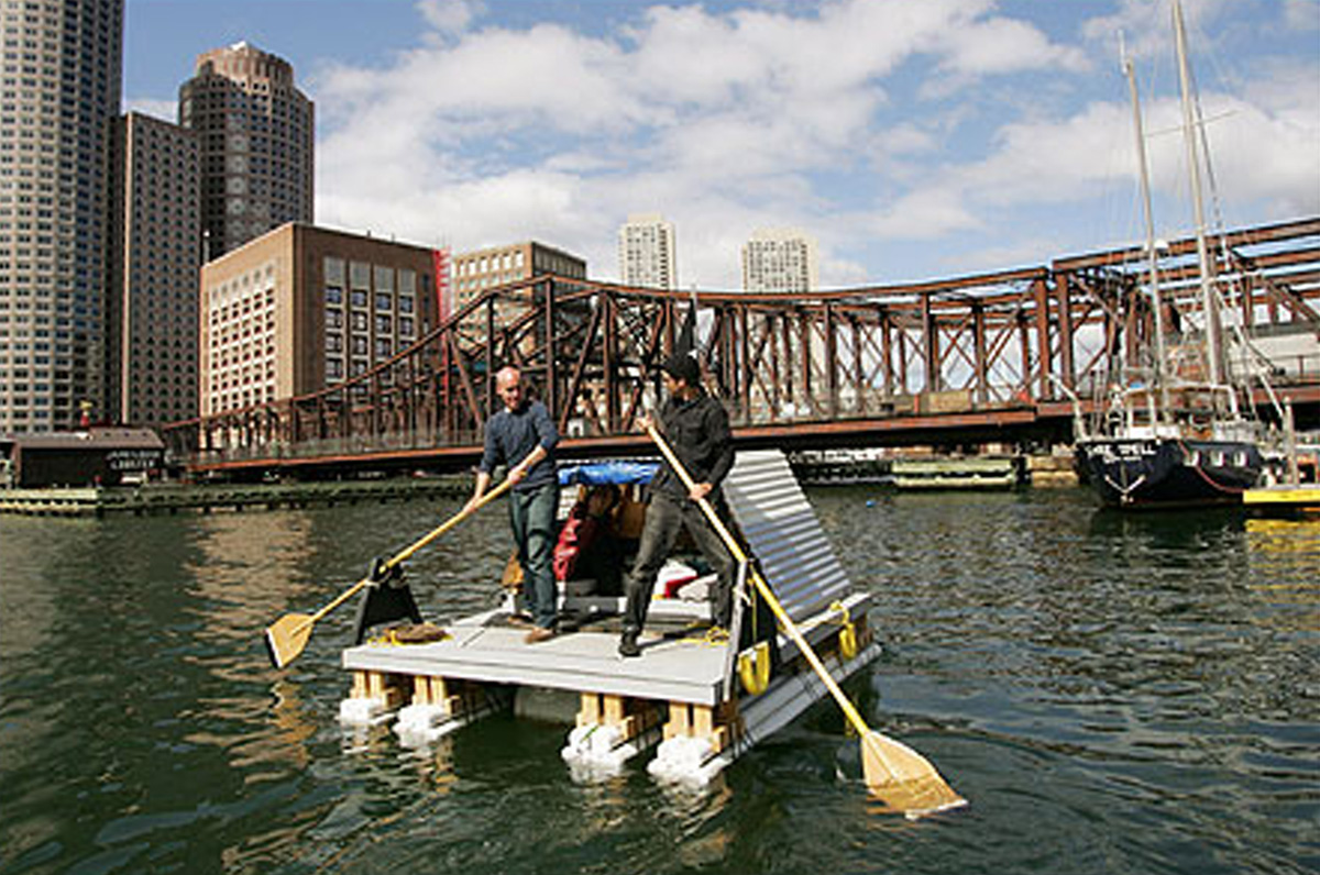 John Osorio-Buck, WTLFPCAPTOTL, 2004, live/work raft, variable size