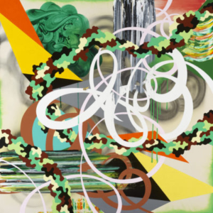 Kara Maria, Double Life, 2015, acrylic on canvas, 60 x 60 inches