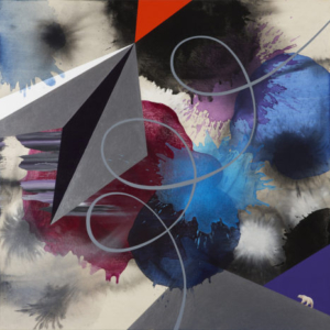 Kara Maria, Not Fade Away, 2014, acrylic on canvas, 46 x 46 inches