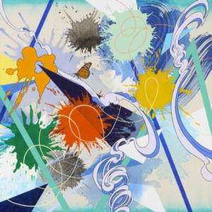 Kara Maria, Alight , 2014, acrylic on canvas, 26 x 26 inches