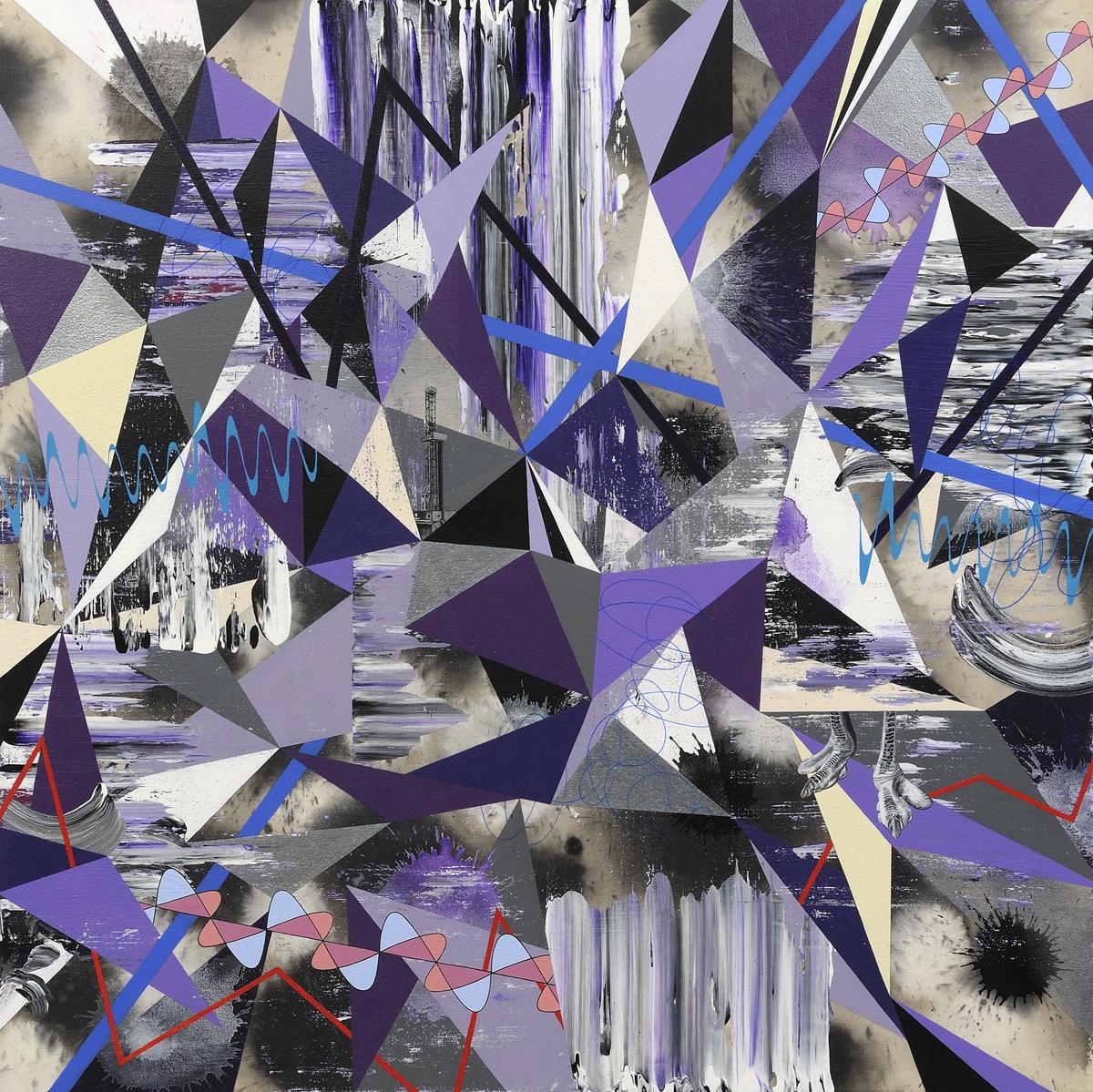 Kara Maria, Anthropocene Shuffle, 2014, acrylic on canvas, 46 x 46 inches