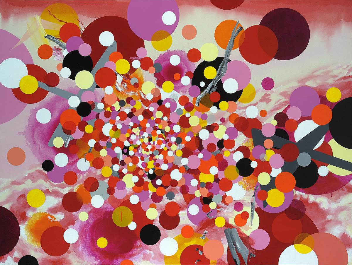 Kara Maria, Cloud Nine, 2011, acrylic on canvas, 60 x 80 inches
