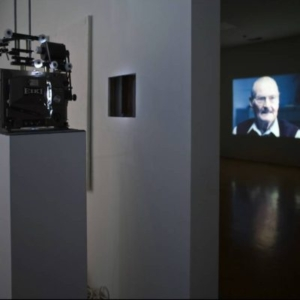 Kerry Tribe, H.M., 2009, double projection of a single 16mm film , variable
