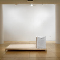 Karen Reimer, Endless Set #1399, 2012, sewn fabric on wood platform, 27 x 18 1/2 x 29 inches