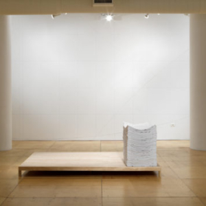 Karen Reimer, Endless Set #1399, 2012, sewn fabric on wood platform, 27 x 18 1/2 x 29 inches