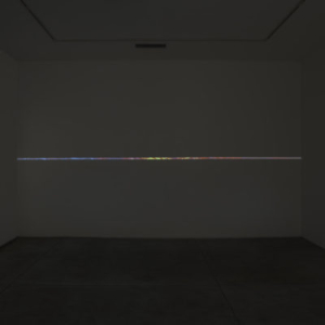 Katrina Moorhead, A mass dressed as a line, 2013, video projection (1 x 216 inches), installation