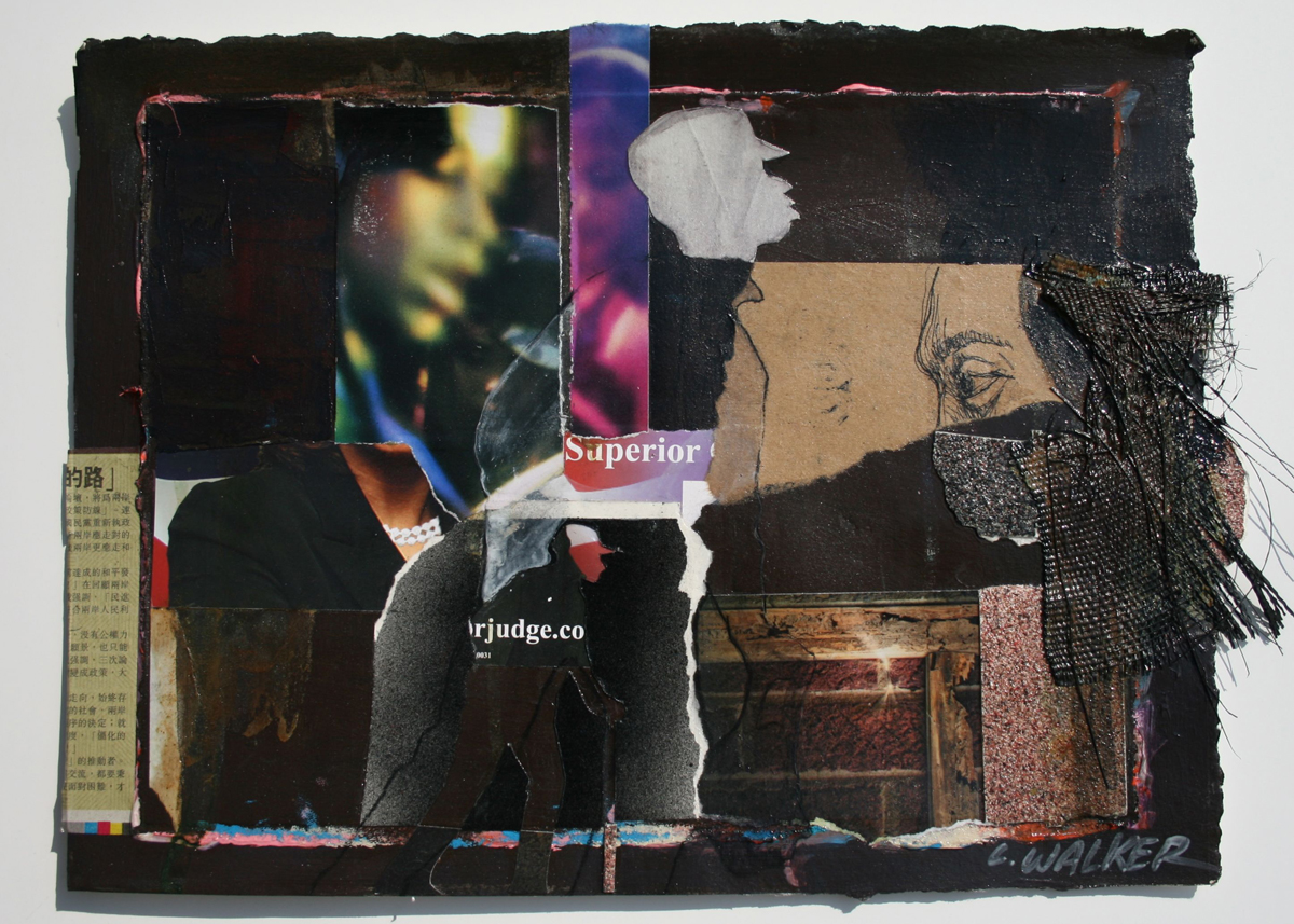 Larry Walker, Superior Negative Scale, 2011, acrylic collage, 17 1/2 x 21 inches