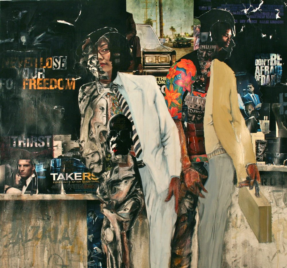 Larry Walker, Urban Composites, 2011, acrylic/mixed materials, 50 x 52 1/2 inches