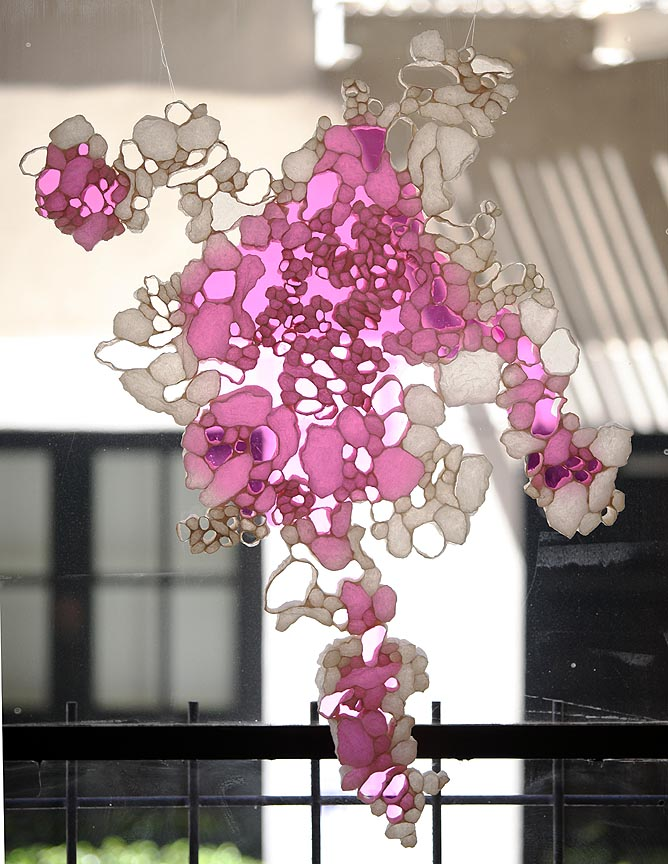 Mary Durell, Pink Sixty, 2012, paper, 39 x 35 x 2 inches