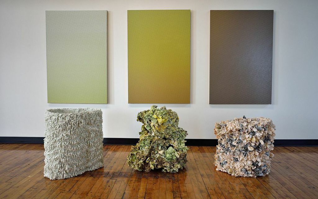 Marie Krane, Six Works Regarding the Nature of Perennial Time, 2015, mixed media installation, variable