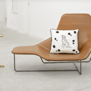 Margaret Lee, Table, Pear, Banana + Pillow + Chaise, 2013, pillow, plaster, acrylic paint, table, variable
