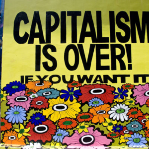 Megan Wilson, CAPITALISM IS OVER! If You Want It, 2011, public mural, acrylic, 13 1/2 x 13 inches