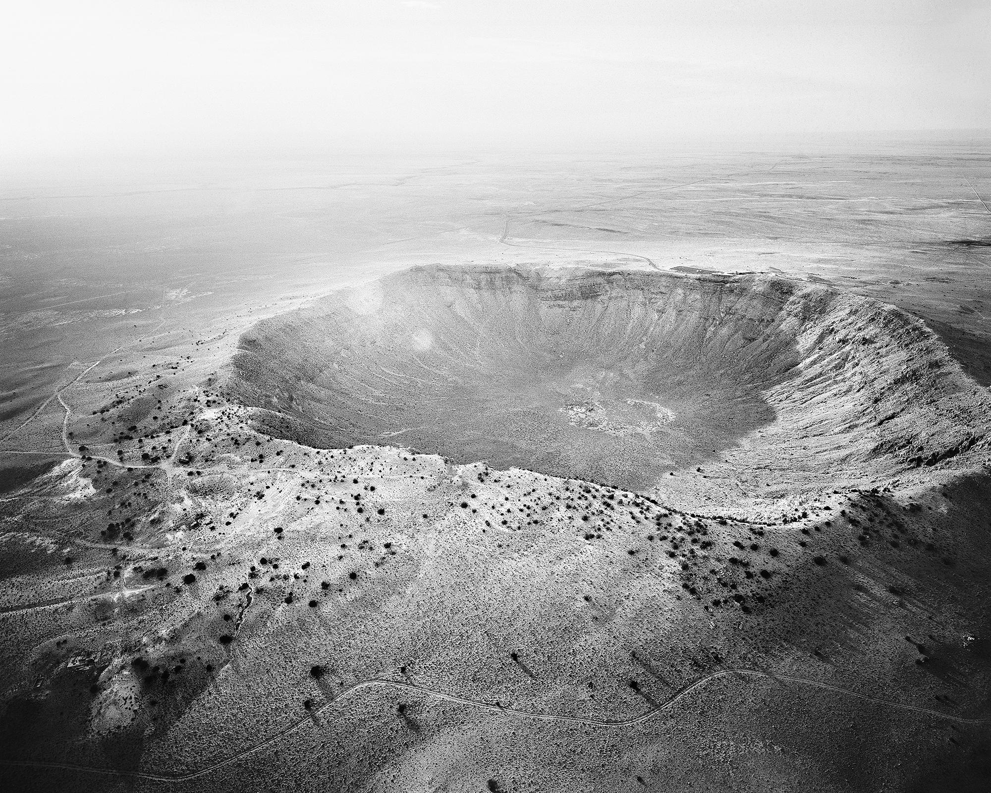 Michael Light, Meteor Crater Looking Northwest, Near Winslow, AZ; 2011